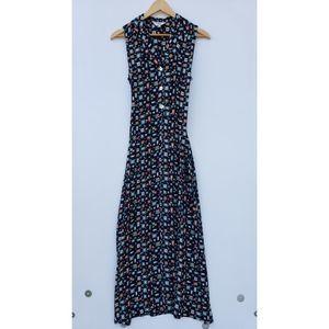 Vintage Olive 90's Y2K Novelty Print Maxi Dress M